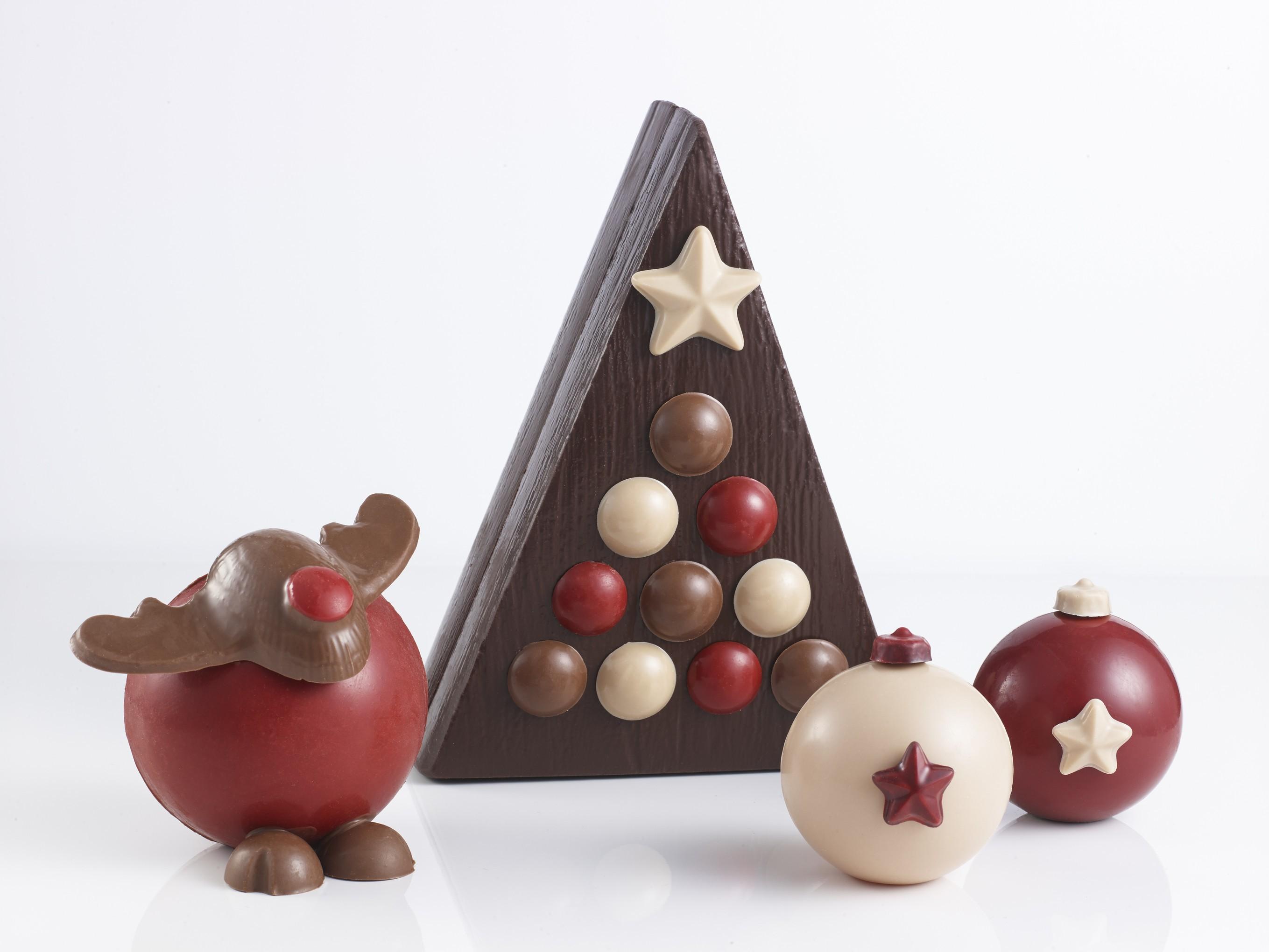 Boules De Noel Chocolat Decoration
