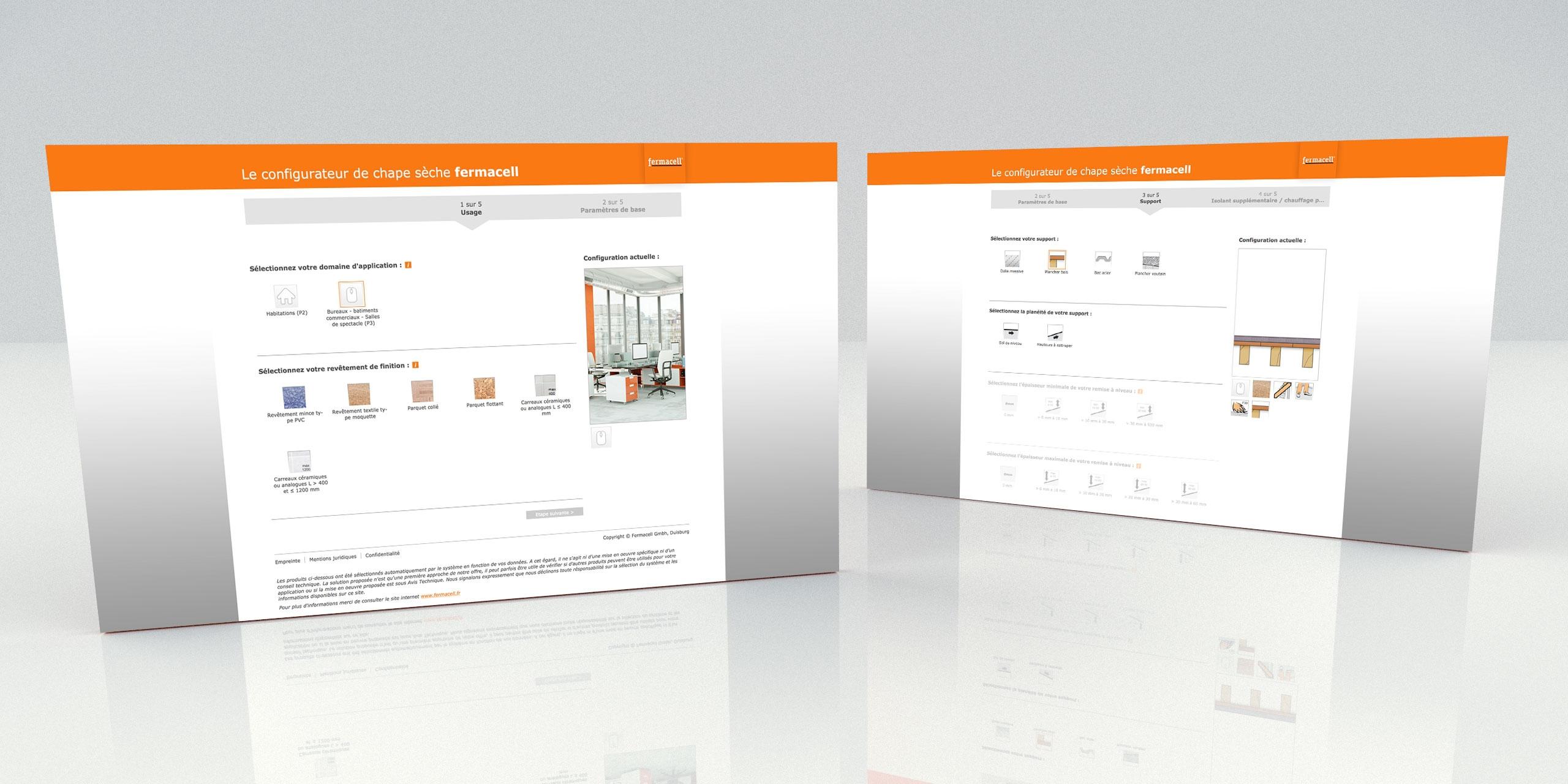 nouveau configurateur interactif de chape s che fermacell. Black Bedroom Furniture Sets. Home Design Ideas